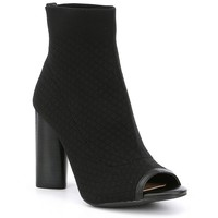 Gianni Bini Bergen Stretch Peep-Toe Sock Shooties | Dillards