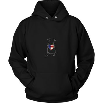 Peaceful Warrior Pitbull Hoodie