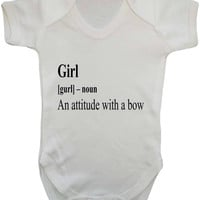 Girl Dictionary Definition Baby Onesuit