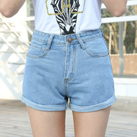 High Waist Denim Shorts Plus Size XS-4XL Short Jeans for Women 2016 Hot Pants
