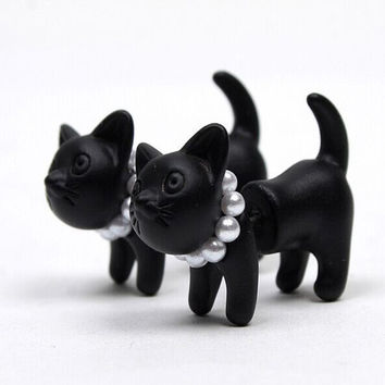 Super Cute 3D Kitty Cat Earrings Set Choose Your Color