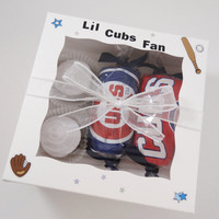 Chicago Cubs Baby Gift Washcloth Cupcakes Bodysuit Candies Box