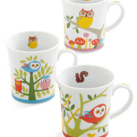 Owl Together Again Mug Set | Mod Retro Vintage Kitchen | ModCloth.com