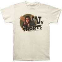 Breakfast Club Men's Eat My Shorts Slim Fit T-shirt Ivory