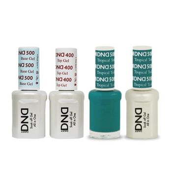 DND - Base, Top, Gel & Lacquer Combo - Tropical Teal - #508