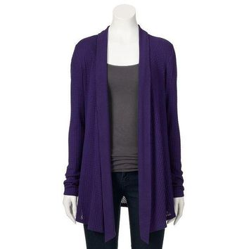 Daisy Fuentes Textured Open Front Cardigan   Women's Size:
