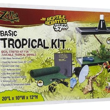 Zilla Tropical Reptile & Exotics All-in-One Kit 10 gal
