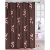 Browning Pink Buckmark Shower Curtain
