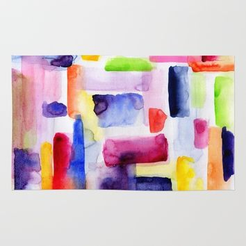 Color Block Rug by Miss L In Art