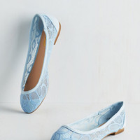 Pastel Flying By the Feet of Your Dance Flat in Periwinkle