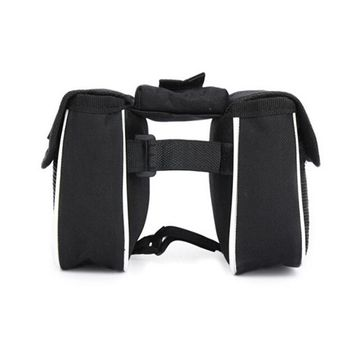 Bicycle Bike Front Frame Tube Handlebar Pannier Double Pouch Phone Bag Saddle Bags for bicycles