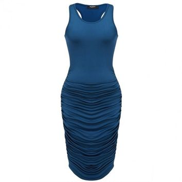 Ruched Love Tank Dress - 4 Colors Available!