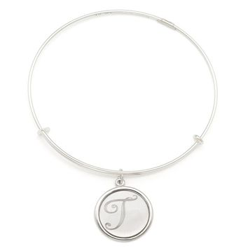 Alex and Ani Precious Initial T Charm Bangle - Argentium Silver