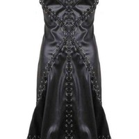 Rebecca Vegan Leather And Lace Dress