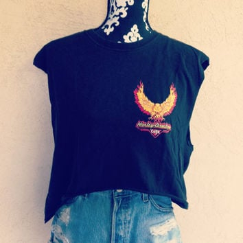 Vintage Reworked  Harley Davidson crop top by NewSpiritVintage