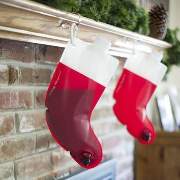 Holiday Hangover Santas Stocking Flask