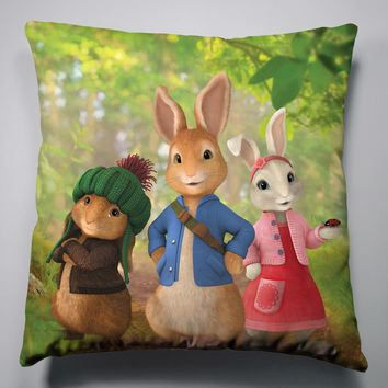 Anime Manga Peter Rabbit Pillow 40x40cm Pillow Case Cover Seat Bedding Cushion 001