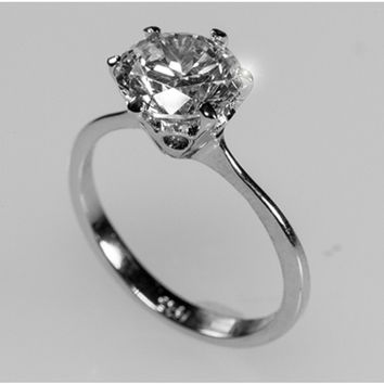 Shop Cubic Zirconia Solitaire Engagement Rings on Wanelo 63a51b1f8d6b