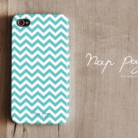 Apple iphone case for iphone iphone 3Gs iphone 4 iphone 4s iPhone 5 : Soft blue Chevron