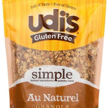 UDI'S: 100% Whole Grain Gluten Free Granola Au Naturel, Dairy Soy & Nut Free, 12 oz