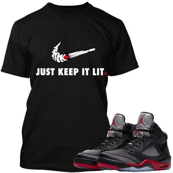 Jordan Retro 5 Satin Sneaker Tees Shirts to Match - SWOOSH PG