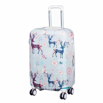 Cartoon Elastic Luggage Protective Cover Travel  Children's Tolley Suitcase Dust Cover Bags case Accessories Supplies