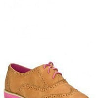 FAUX LEATHER OXFORD LACE UP FLATS IN SUMMER COLOR @ KiwiLook fashion