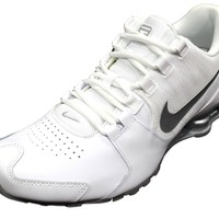 Nike Men's Shox Avenue Leather White/Silver Running Shoes 833584 100