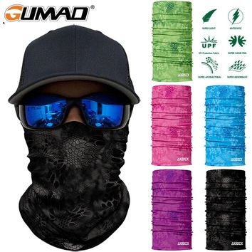 Camouflage Seamless Magic Neck Gaiter Face Mask Shield Cycling Fishing Military Army Tactical Bandana Headband Scarf Men Women