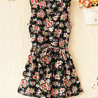 Spring and summer sleeveless chiffon dress