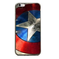 "Captain America Shield TPU Silicone Case for Iphone 6/6s (4.7"")"