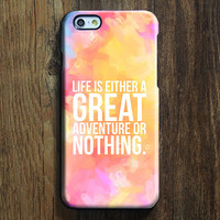 Great Or Nothing Quote iPhone 6s Plus/6/5S/5C/5/4S/4 Protective Case #595