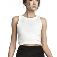 alice + olivia   KNIT CROPPED TOP
