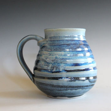 EXTRA LARGE Mug Pottery, 34 oz, unique coffee mug, handmade ceramic cup, handthrown mug, stoneware mug, pottery mug, ceramics and pottery