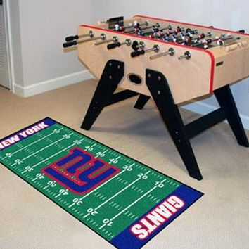 FANMATS New York Giants Field Runner Mat Area Rug, Man Cave, Bar, Game Room