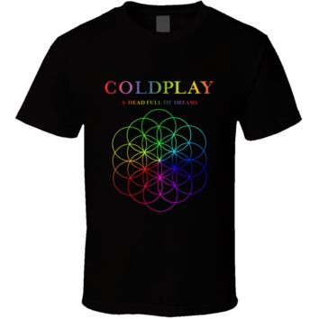 Hot Alternative Rock Music Coldplay A Head Full Of Dreams Concer T Shirt