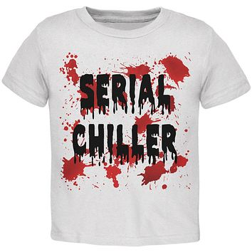 Halloween Serial Chiller Blood Splatter Toddler T Shirt
