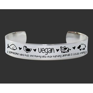 Vegan Hurting Animals Is a Bad Thing Bracelet | Vegan Gift