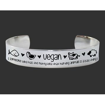 Vegan Hurting Animals Is a Bad Thing Bracelet