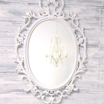 Vintage hollywood regency mirrors for from revivedvintage for White framed mirrors for sale