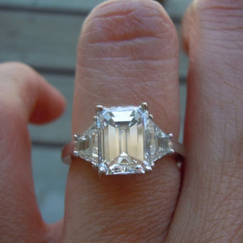 2 Carat Emerald Cut vs 2 Carat Princess Cut Diamonds