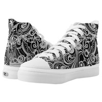 Black & White High-Top Sneakers