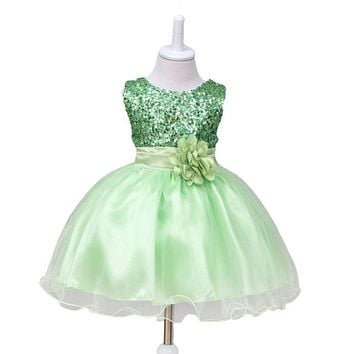 Summer baby girls newborn dress for christening 1 year infant toddler baby birthday dress sleeveless christmas dress