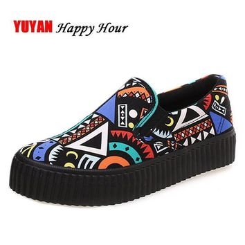 New 2017 Spring Autumn Bohemian Loafers Women Brand Flat Shoes Elegant Casual Canvas S