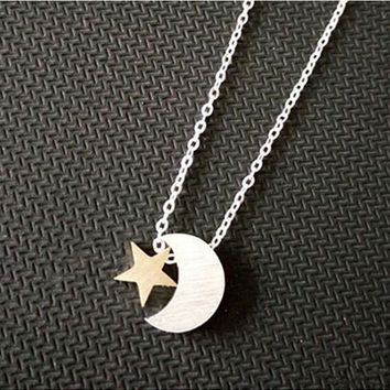 Moon & Stars Necklace-Stainless Steel