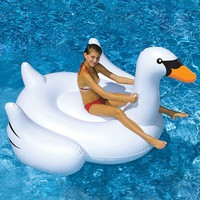 Blue Wave Giant Swan 6-ft. Inflatable Ride-On Pool Toy