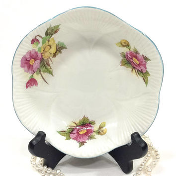 Shelley Dainty Cereal Bowl, Begonia Pattern, China Nut Dish, Jewelry / Trinket Dish, Shallow Bowl, English China, 1940s 1960s, Vintage