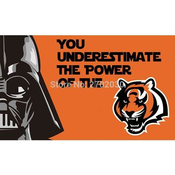 You Underestimate The Powerof The Cincinnati Bengals Flag Super Bowl Champions Football Team Fan 3ft X 5ft Banner 100D Polyester