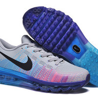 NFM013 - Nike Flyknit Max (Grey/Blue/Court Purple)
