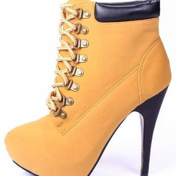 Jjf Compose-01 Bootie Boots, Camel Suede, 7.5